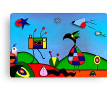 My Homage To Miro Canvas Print