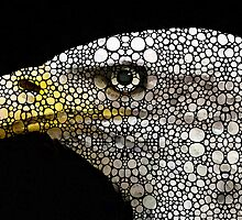 Bald Eagle Art - Eagle Eye - Stone Rock'd Art by Sharon Cummings