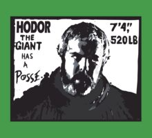 Hodor the giant has a posse. Game of thrones.  by Tardis53