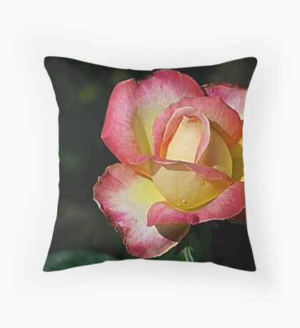 Rosy Blend Throw Pillow