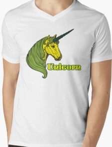Unicorn Corn Mens V-Neck T-Shirt