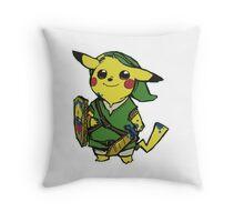 Pikachu Zelda Throw Pillow