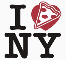 I Love NY Pizza by DetourShirts