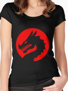 Red Luck Dragon Design, Luck Dragon Gifts Logo Design Women's Fitted Scoop T-Shirt