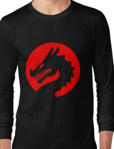 Red Luck Dragon Design, Luck Dragon Gifts Logo Design Long Sleeve T-Shirt