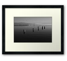 North Shore of Salton Sea Sunrise Framed Print