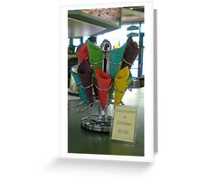 Coloured Ice Cream Cones [Cucurucho De Colores] - $9.00 Greeting Card