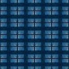 Denim Blue Check Pattern by Orla Cahill