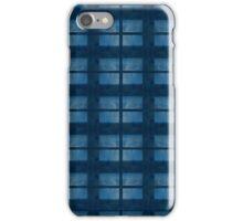 Denim Blue Check Pattern iPhone Case/Skin
