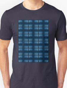 Denim Blue Check Pattern Unisex T-Shirt