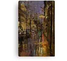 Evening Rain in Paris Canvas Print