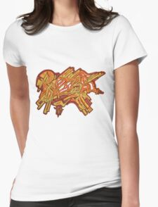 Roze Graffiti Abstract Design Drawing Womens Fitted T-Shirt