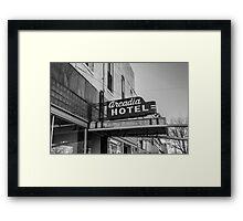 Old Arcadia B&W Framed Print