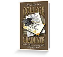 College Graduate Greeting Card