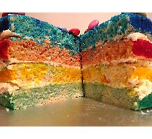 Rainbow inside a Cake Photographic Print