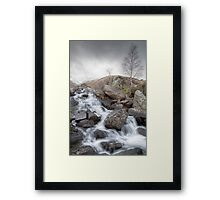 A Winter Waterfall by Smart Imaging Framed Print