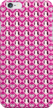 Penguin Hearts Pattern by SaradaBoru