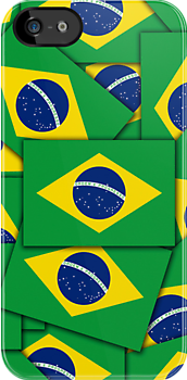 Iphone Case - Flag of Brazil - Multiple by Mark Podger