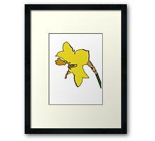 Torn Daffodil Framed Print