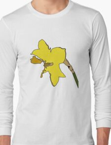Torn Daffodil Long Sleeve T-Shirt