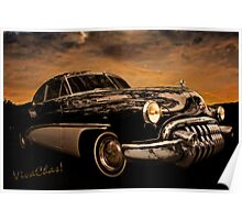 Big Black Buick Art Deco At Its Best Poster