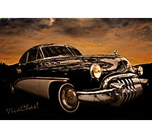 Big Black Buick Art Deco At Its Best Photographic Print
