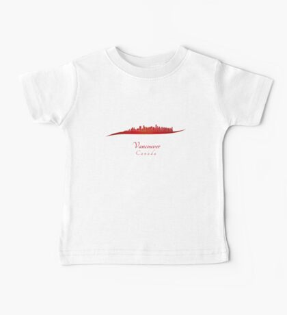 Vancouver skyline in red Baby Tee