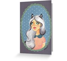 Scarlett Skunk Greeting Card