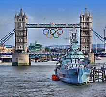 Olympic Rings  London 2012 - Tower Bridge by Colin  Williams Photography