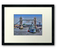 Olympic Rings  London 2012 - Tower Bridge Framed Print