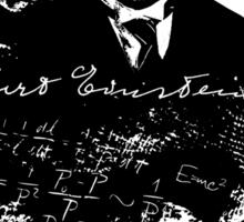 Albert Einstein - Theoretical Physicist - A Nerdy Tribute Design - Einstein Equation Shirt Sticker