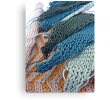 Knitted Designs  Canvas Print