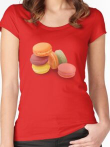 macarons 2! Women's Fitted Scoop T-Shirt