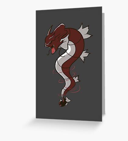 King of the Seas (red) Greeting Card
