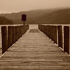 Cumbrian Jetty in Sepia by Helen J Cherry
