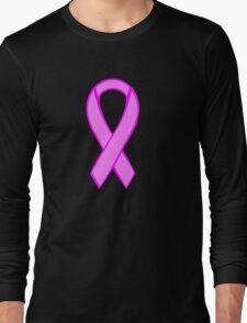 Breast Cancer Ribbon Long Sleeve T-Shirt