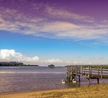 Beautiful light at Urunga by Clare Colins