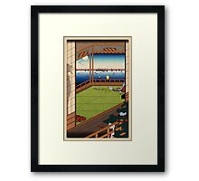 MOON VIEWING PIXEL Framed Print