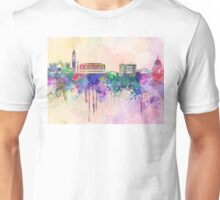 Venice skyline in watercolor background Unisex T-Shirt