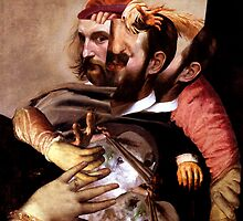 Portrait of an Artist Stabbed in the Back. by nawroski .