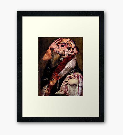 Artist Reaching for a Dagger. Framed Print