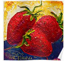 Red Strawberries II Poster