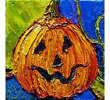 Halloween Jack-O-Lantern Photographic Print