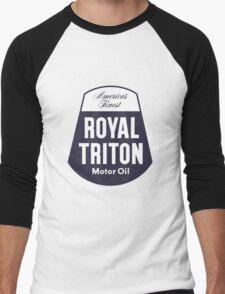 Vintage Royal Triton Motor Oil Men's Baseball ¾ T-Shirt