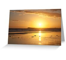 Sunset over Barwon Heads Greeting Card