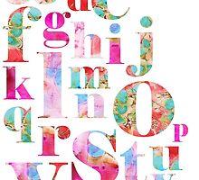 Pink Alphabet by Kathy Panton