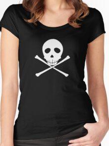 Persona 4 Kanji Tatsumi skull shirt Women's Fitted Scoop T-Shirt