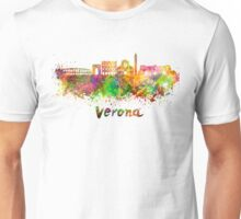 Verona skyline in watercolor Unisex T-Shirt