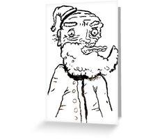 Ugly Santa 3 Greeting Card