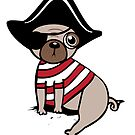 Pirate Pug by Amy Grace